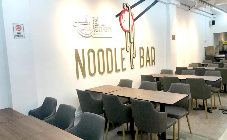 Noodle Bar - Lorong Telok | Product Seen: [Customised Tabletop + Filo Table Base - V2 & Corine Armchair]