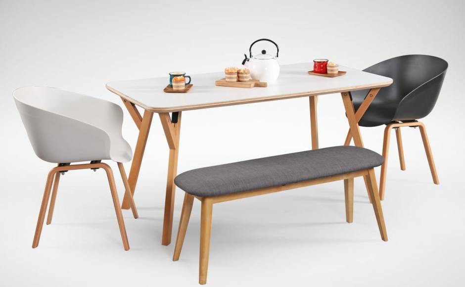 [Hatsuro Dining Table 1500, Ariel Armchair & Barett Bench]