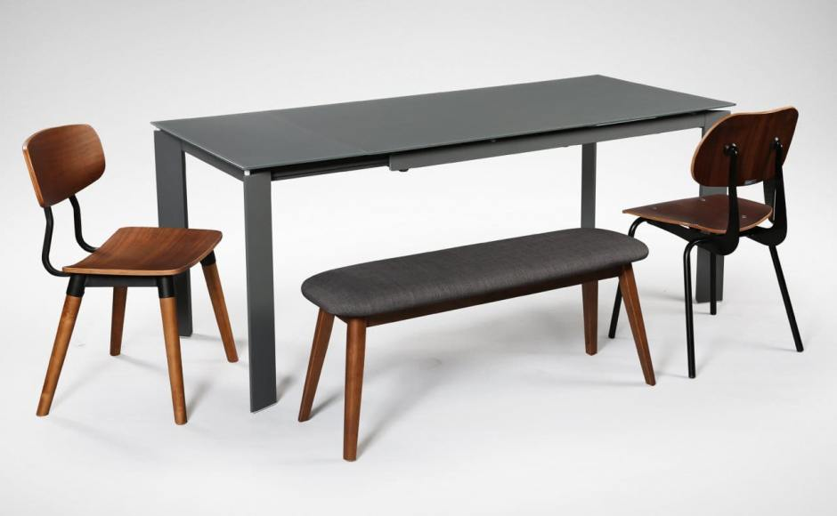 [Kamada Dining Table, Savvy Sidechair, Spark Sidechair & Barett Bench]
