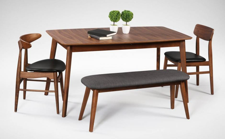 [Masso Dining Table, Hanoi Sidechair, Ottawa Sidechair & Barett Bench]