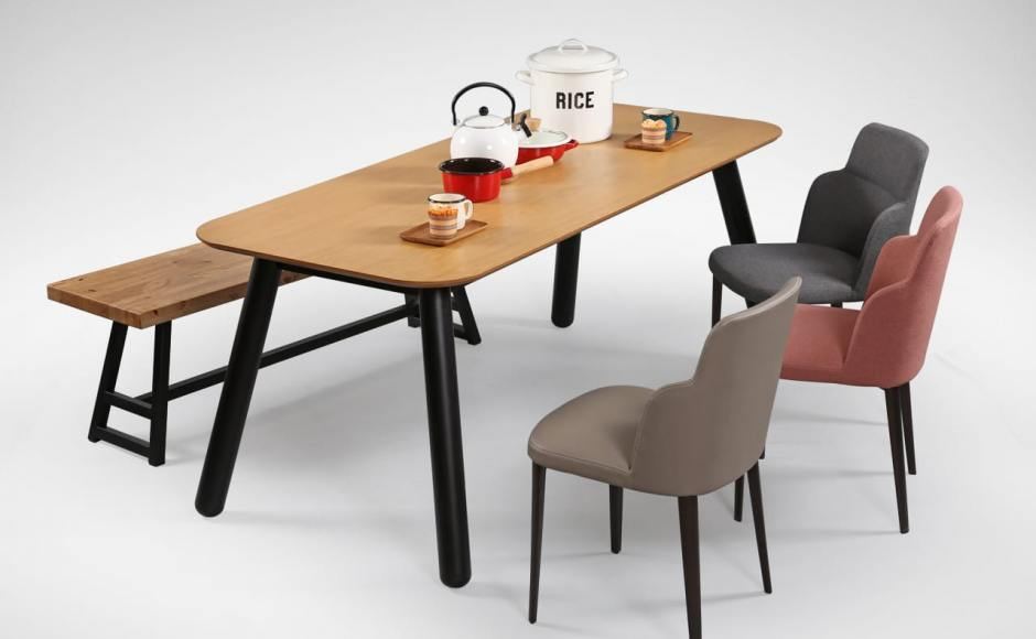 [Anderson Dining Bench, Nordic Dining Table & Grange Sidechair]