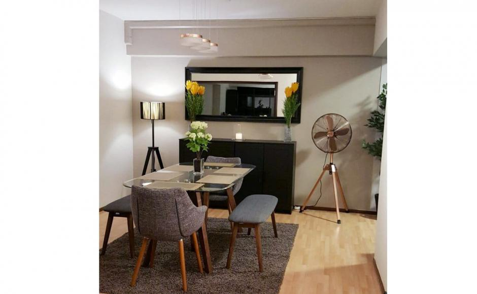 Apartment @ Choa Chu Kang | Products Seen: [Barett Bench, Tripod Dining Table & Ayumi Armchair]