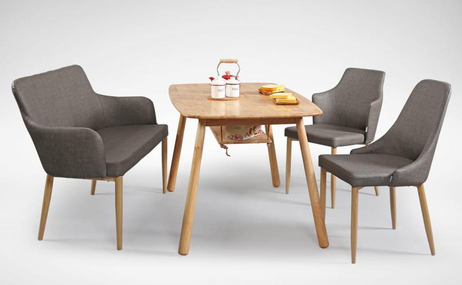 [Debbie Dining Bench, Tumi Swing Dining Table, Corine Armchair & Beatrice Sidechair]