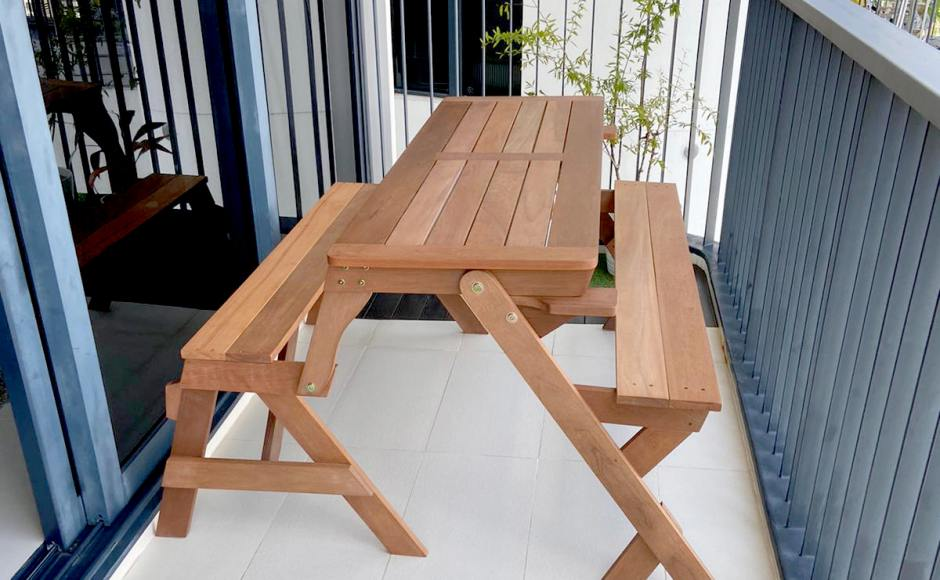 Residence - Leedon Heights | Product Seen: [Canaan Bench/Dining Set (Convertible)]