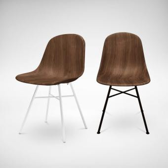 Adik Walnut - Steel Side Chair