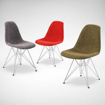 Argo – Half Fabric + Eiffel Chrome Chair