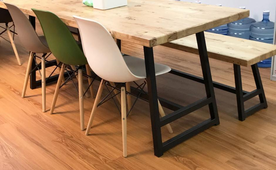Jobstreet - Anson road | Product Seen: [Argo – PP + Tower Chair, Anderson Dining Table – Customisable & Anderson Dining Bench – Customisable]