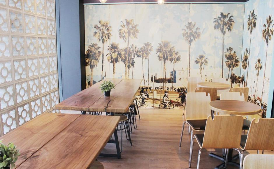 Coffee Bean - Marine Cove | Products seen: [Swiss Chair, Anderson Dining Table – Customisable & Hansel Stool - Wood + Rust]<br />