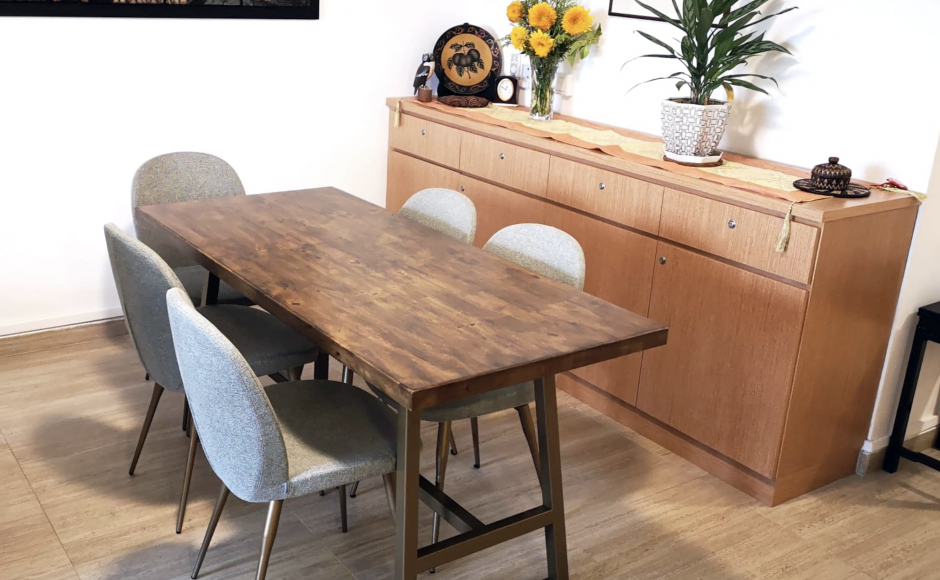 Apartment - Pasir Ris | Product Seen: [Claudia Side Chair & Butcher x Anderson Bar Table – W1500]