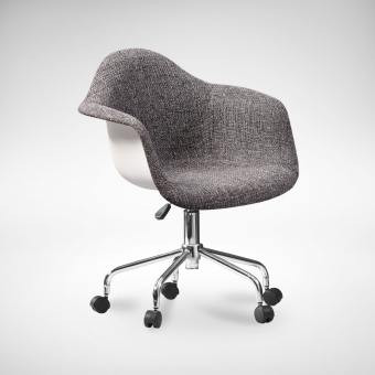 Gum – Half Fabric + Castors Arm chair