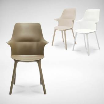 Mila Highback + PP leg Arm Chair