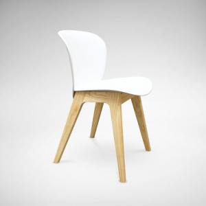 Fuse Square Table + Tania Chair (White) - Bundle 9