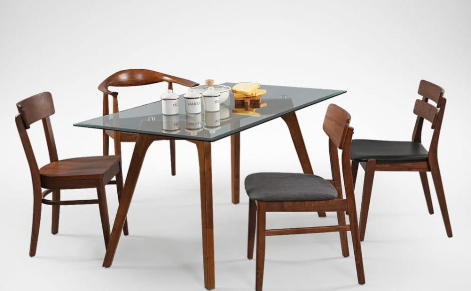 [Farm-2 Chair, Lisbon Chair, Osaka Armchair, Ottawa Chair, & Putin Dining Table – W1400]