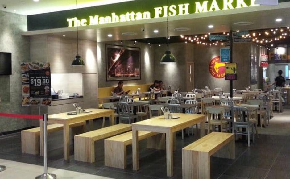 Manhattan Fish Market - Suntec City | Products seen: [Farm-1 Chair, Native Side Chair in Aluminium &amp; Table in Laminate Top and Filo 427 Base]<br />