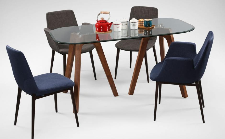 [Fondue Sidechair, Fondue Armchair & Tripod Dining Table]