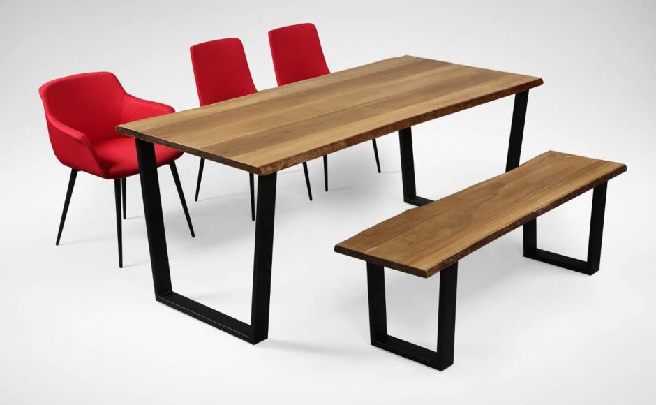 [Duncan Dining Table, Duncan Bench, Jonah Armchair &amp; Dion Sidechair]<br />