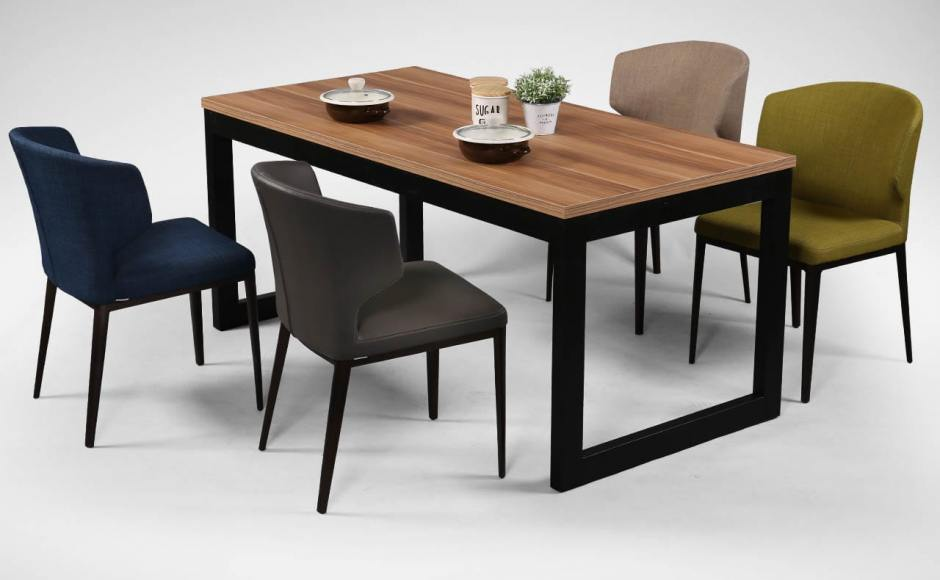 [Elephant Sidechair & Laminate Dining Table + Uni Table Leg]<br />