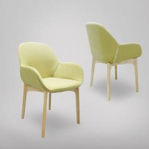 Tracy Arm Chair – Wood Legs