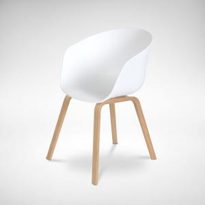 Zara Arm Chair – PP + Wood