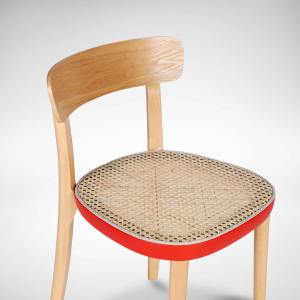 Turie Rattan Chair w Coloured Seat Frame