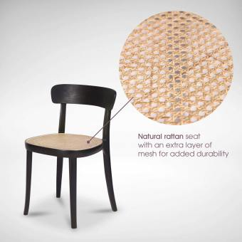 Turie Rattan Chair – Wood Seat