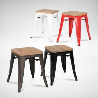 Alex Low Stool – Wood Seat