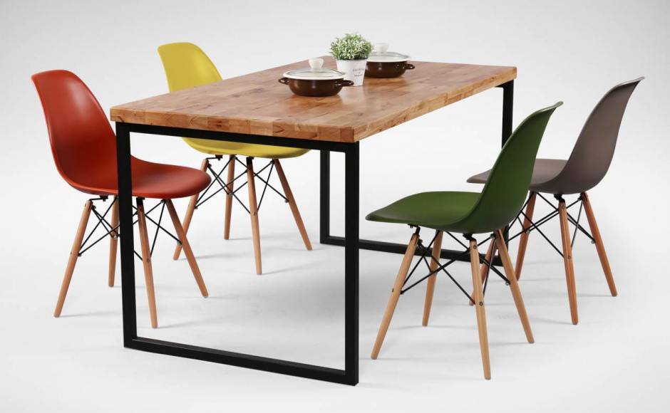 [Ricky Dining Table w/ Butcher Top + Argo - PP + Tower Chair]<br />