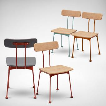 Mito Side chair - Wood Seat