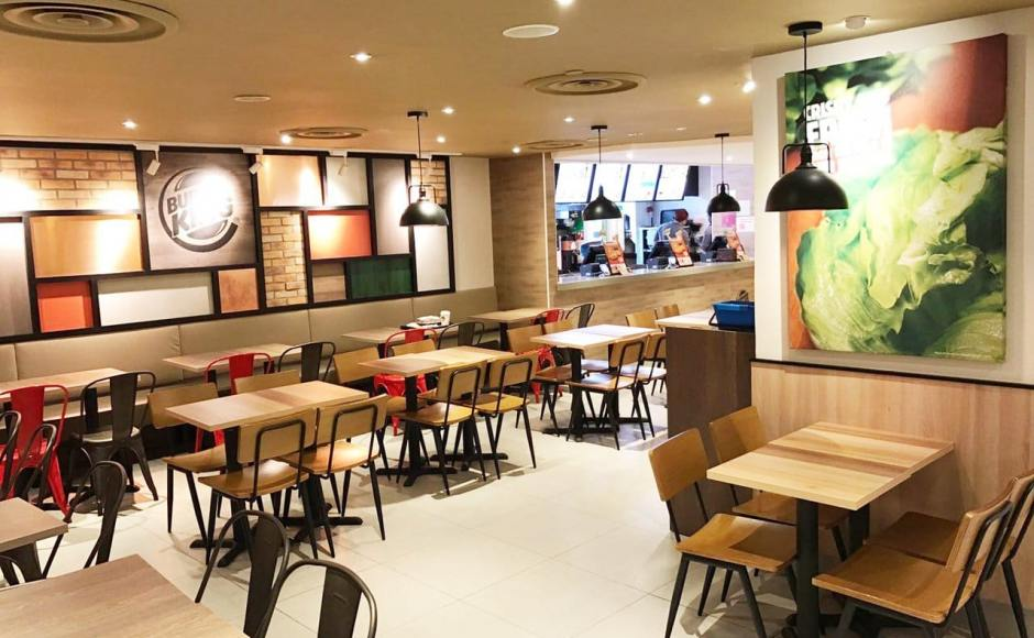 Burger King - Plaza Singapura | Product Seen: [Customised Side Chair, Customised High Chair, Customised Laminate Tabletop + Filo Table Base & Dojo Sidechair - Steel Seat]