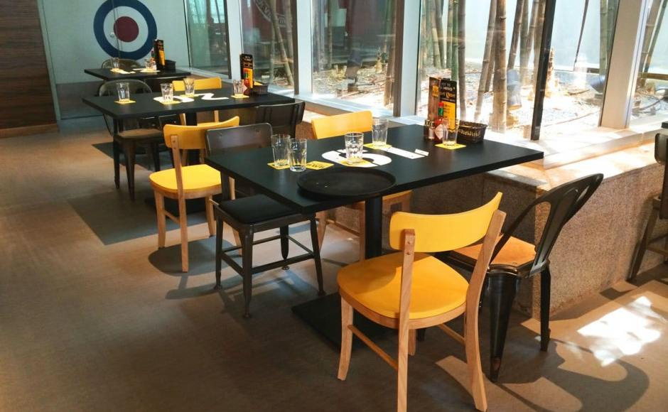 BWB (Burger VS Wings + Bar) - Orchard Central | Product Seen: Farm-1 Chair, Lick Chair – PU Seat, Kanto Sidechair & Customised Laminate TableTop + Cosson Base]