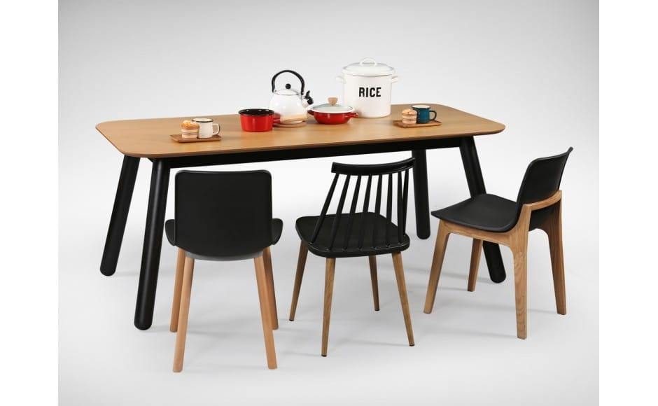 [Nordic Dining Table, Plug + Square Leg Chair, Choyu Chair & Plug + Round Leg Chair]