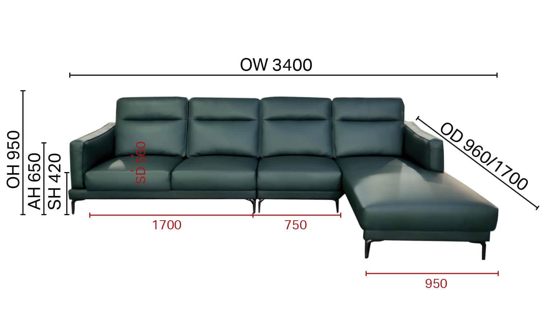 Evan L-Shaped Sofa - W3400