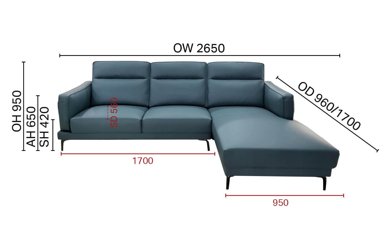Evan L-Shaped Sofa - W2650