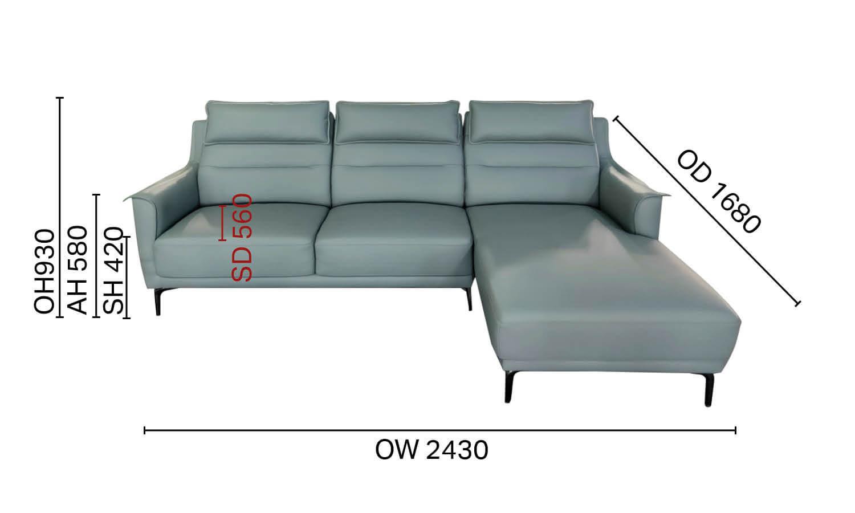 Judi L-Shaped Sofa - W2430