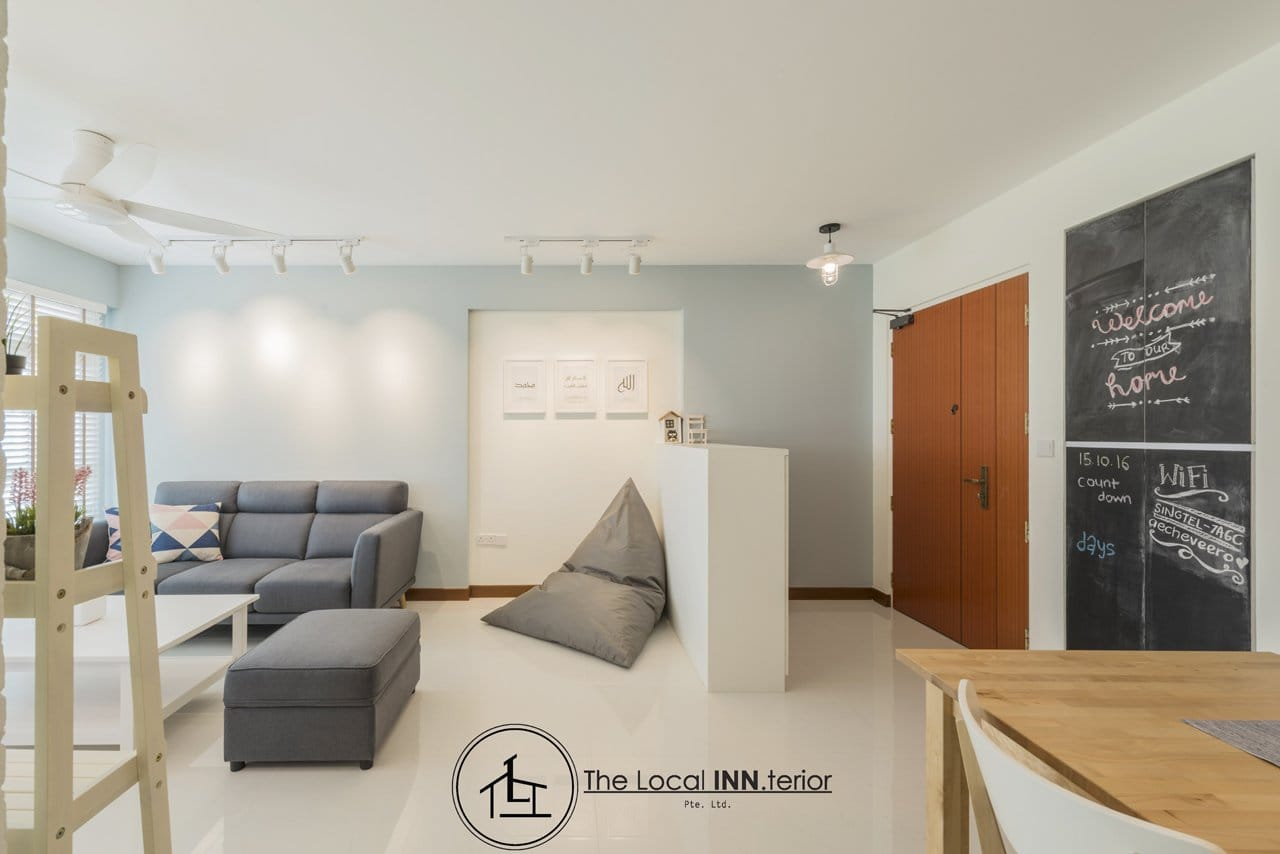 Apartment - Keat Hong by The Local INN.terior | Product Seen: [Neuron 3 Seater Sofa – Fabric & Treasure Ottoman (Storage)]<br />