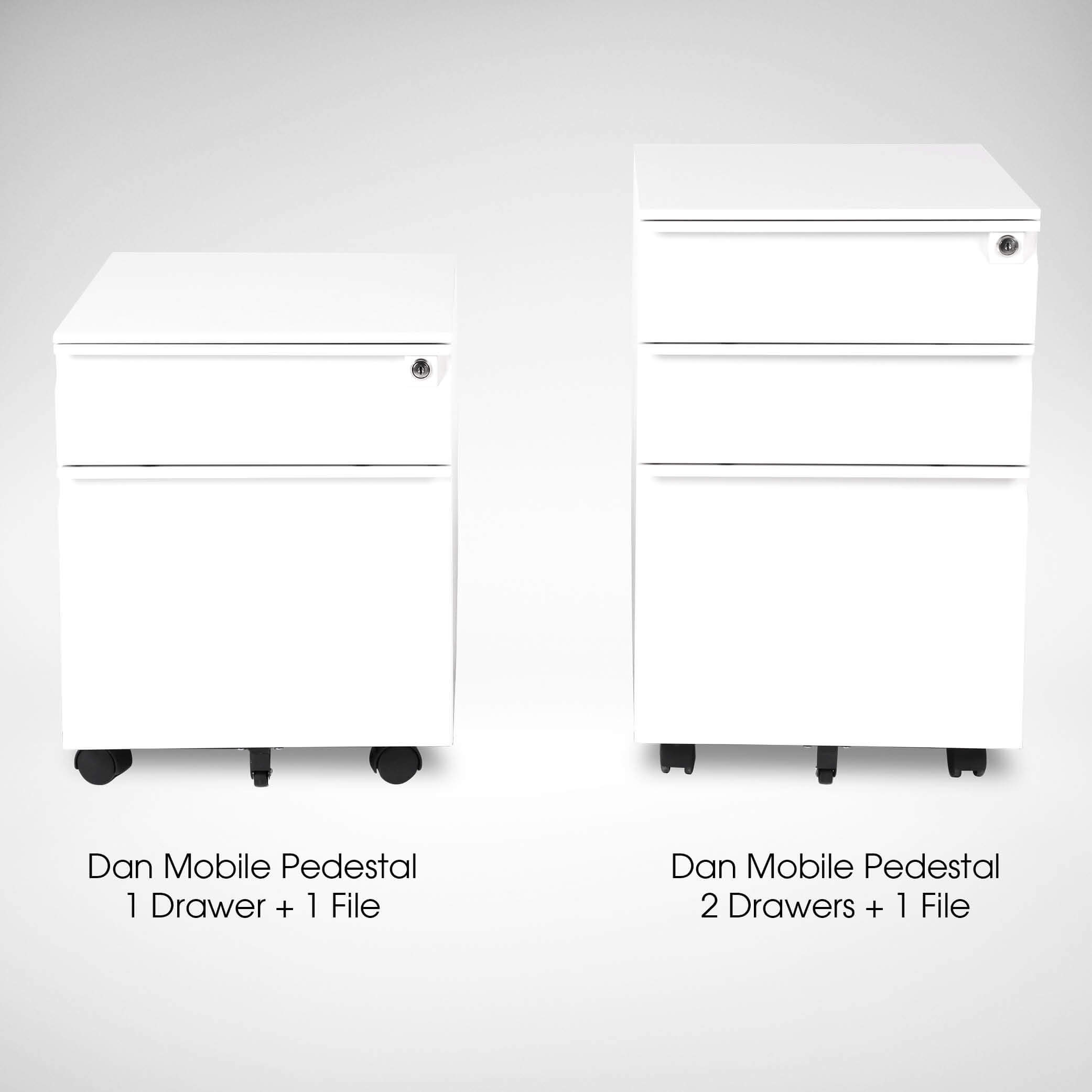Dan Mobile Pedestal 1 Drawer Comfort Design The