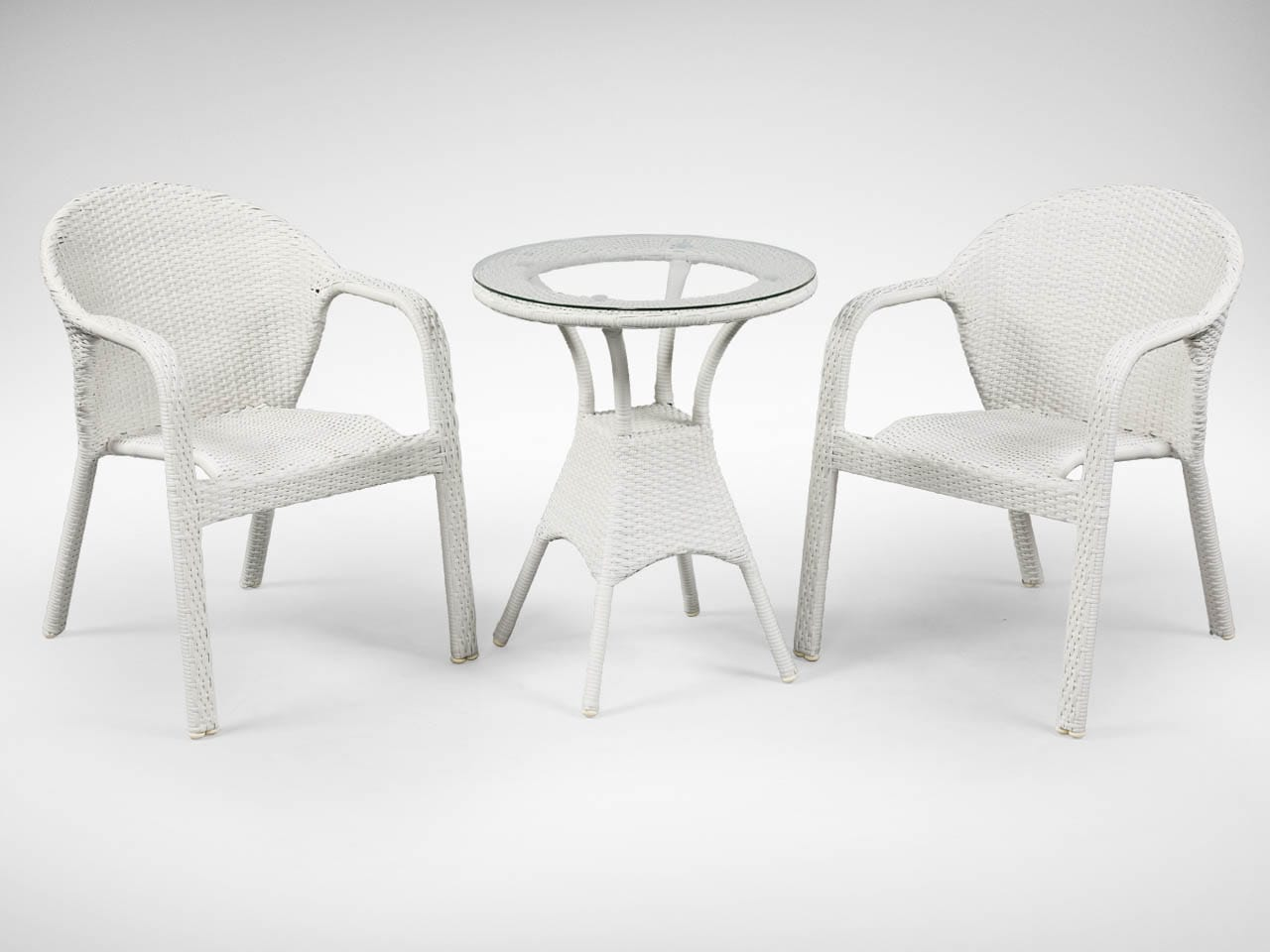 [Jersey Outdoor Armchair & Jude Outdoor Dining Table – Dia600]<br />