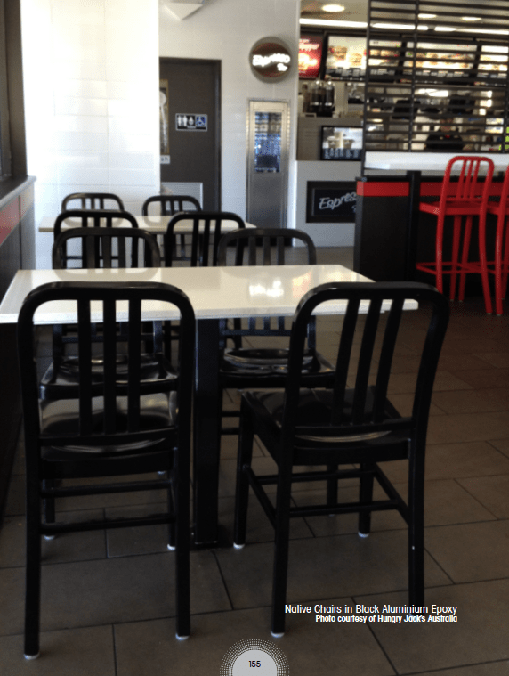 Hungry Jack's Australia | Products seen: [Native Chairs in Black Aluminium Epoxy]<br />