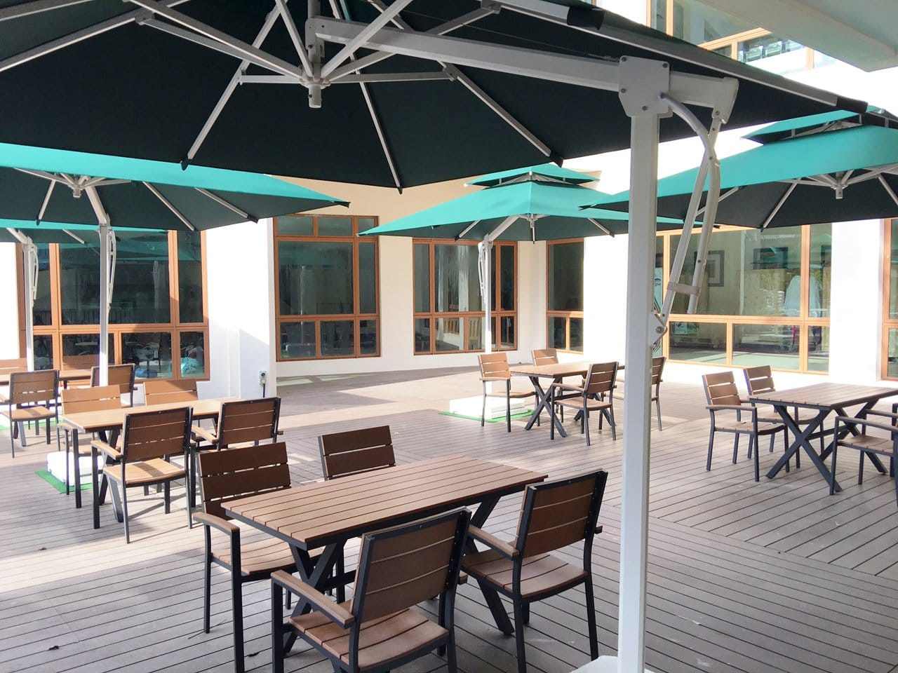 Yishun Safra by Trendbuild | Product Seen: [Fossil Outdoor Armchair & Fossil Outdoor Dining Table - W1400]<br />