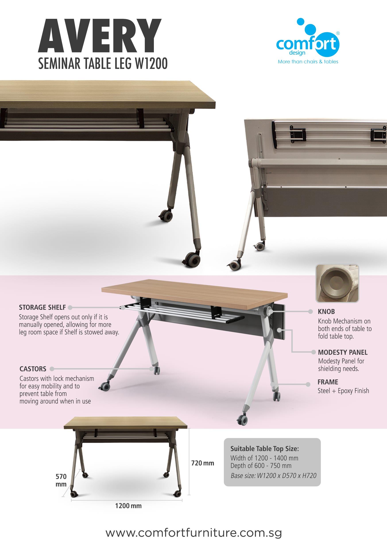 Avery Folding Seminar Table Leg   W1200 | Comfort Design   The Chair U0026  Table People
