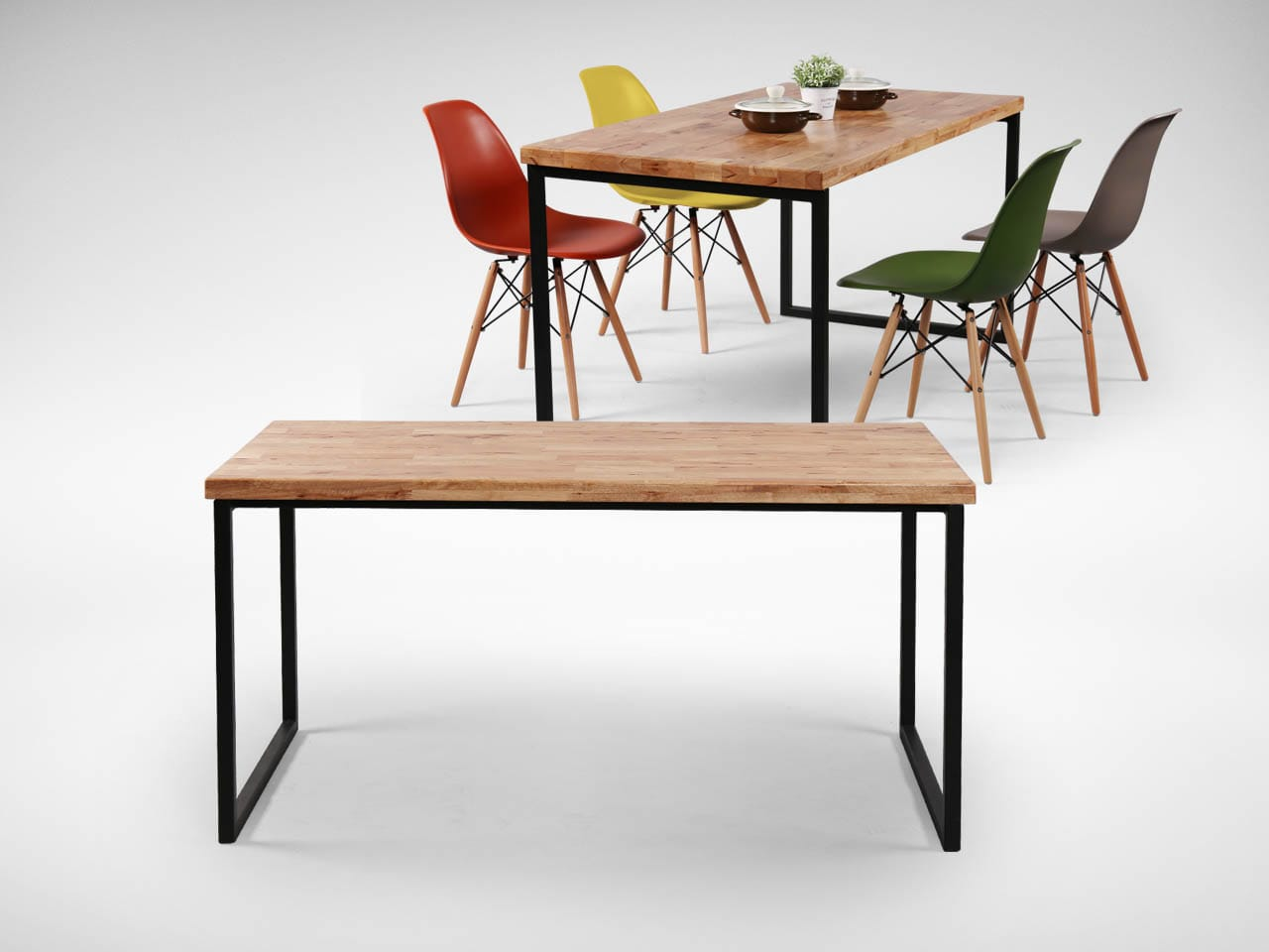 Ricky Dining Table w/ Butcher Top – Customisable | Comfort ...