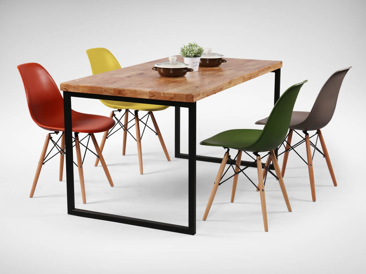 [Ricky Dining Table w/ Butcher Top & Argo - PP + Tower Chair]<br />