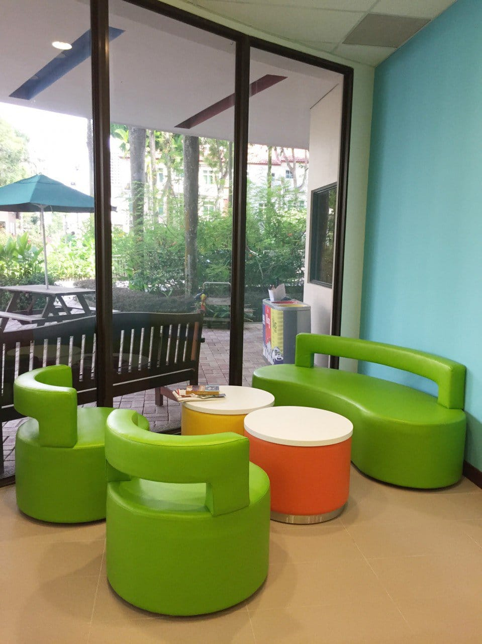 Singapore American School – Woodlands | Product Seen: [Aspire 1–Seater Sofa, Aspire 3–Seater Sofa &amp; Aspire Side Table]<br />