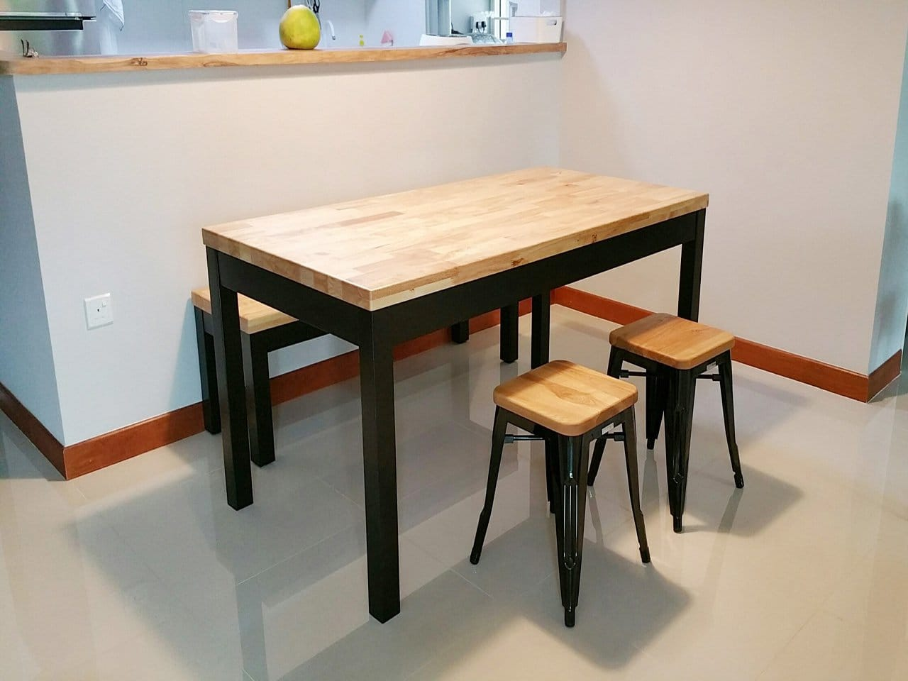 Column Dining Table w/ Butcher Top – Customisable ...