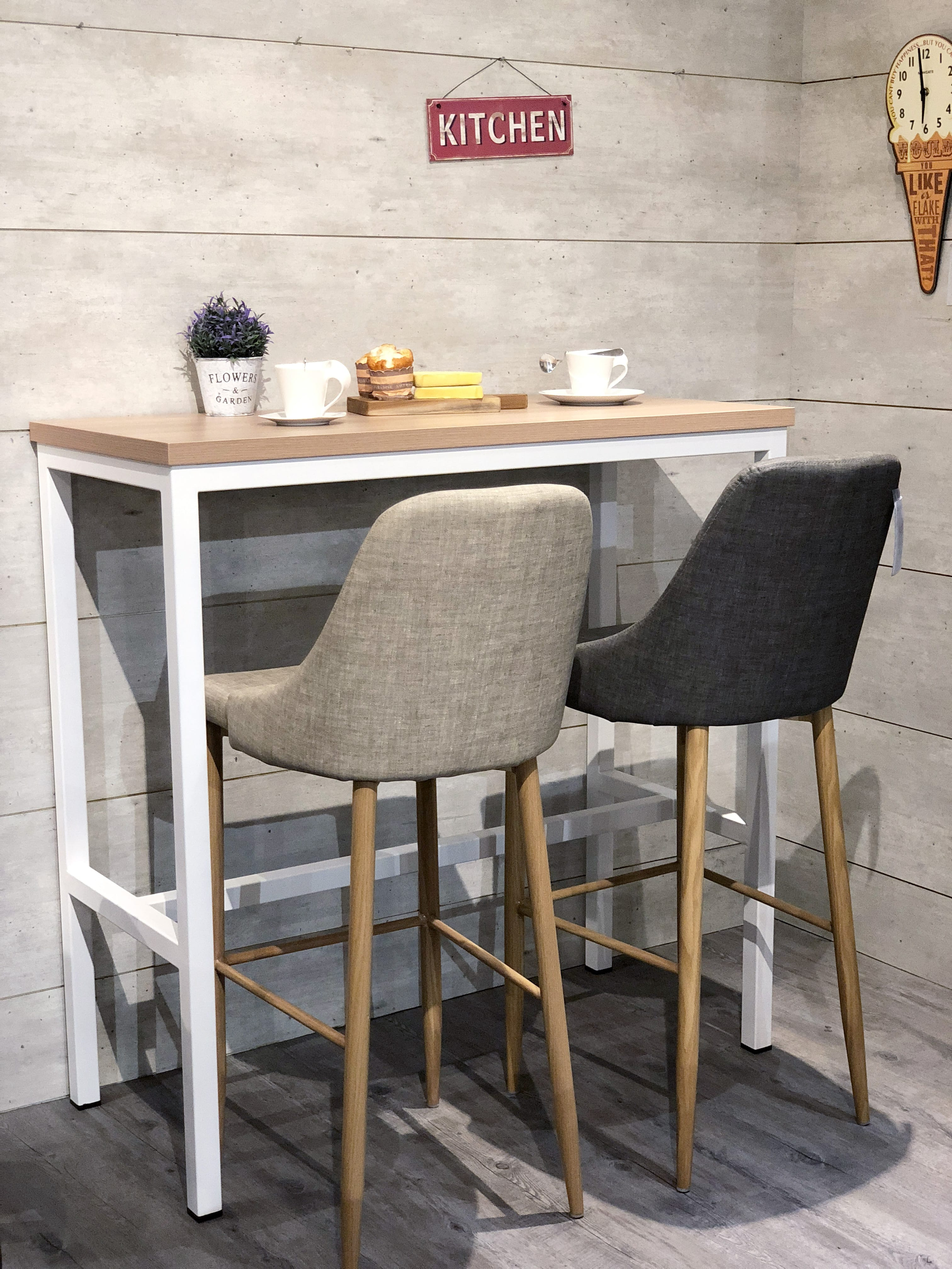 [Decker Bar Table – W1100 & Amelia Barchair]