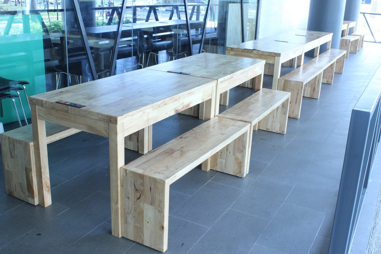 18 Chefs - East Point Mall | Products seen: [Customised Butcher Block Table & Panel Bench w/ Butcher Top – Customisable]<br />