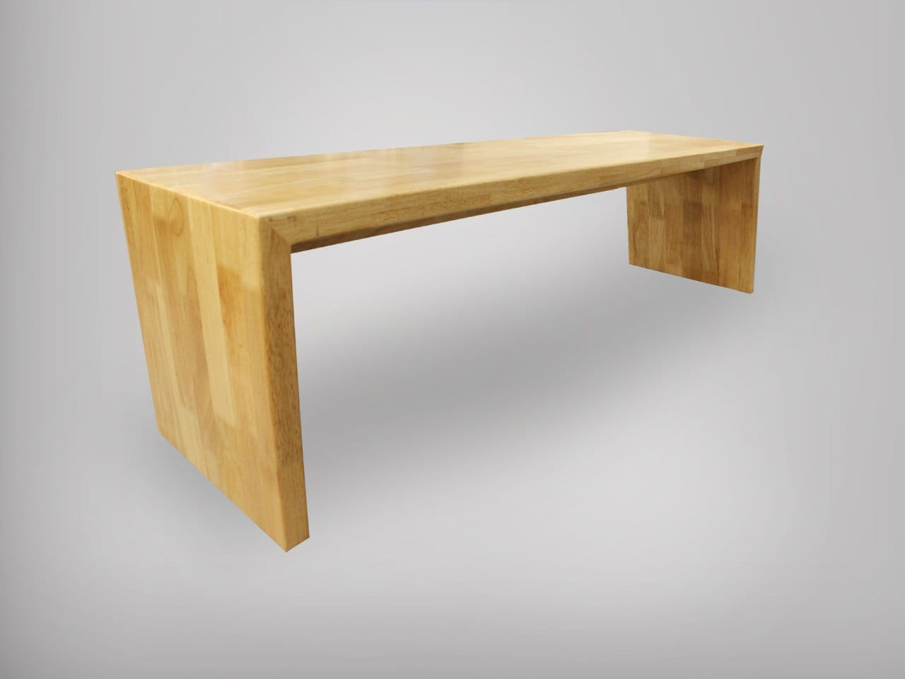 Panel Bench W Clean Rubberwood Top Customisable