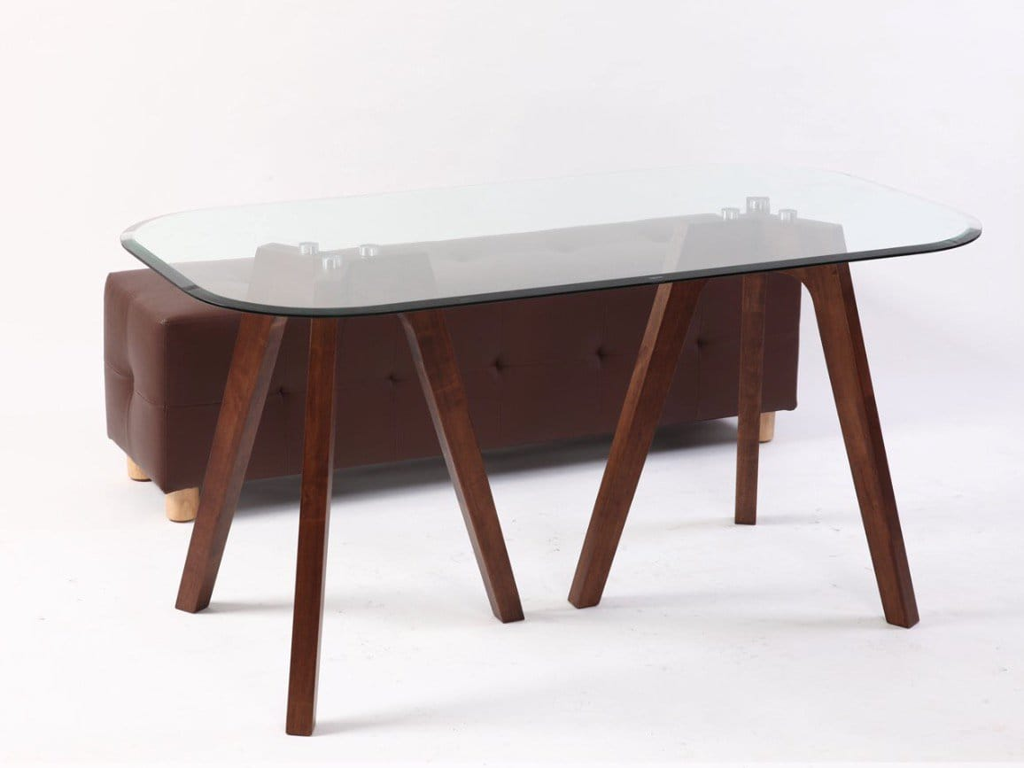 [Tripod Dining Table &amp; Mandel Rectangle Bench]<br />