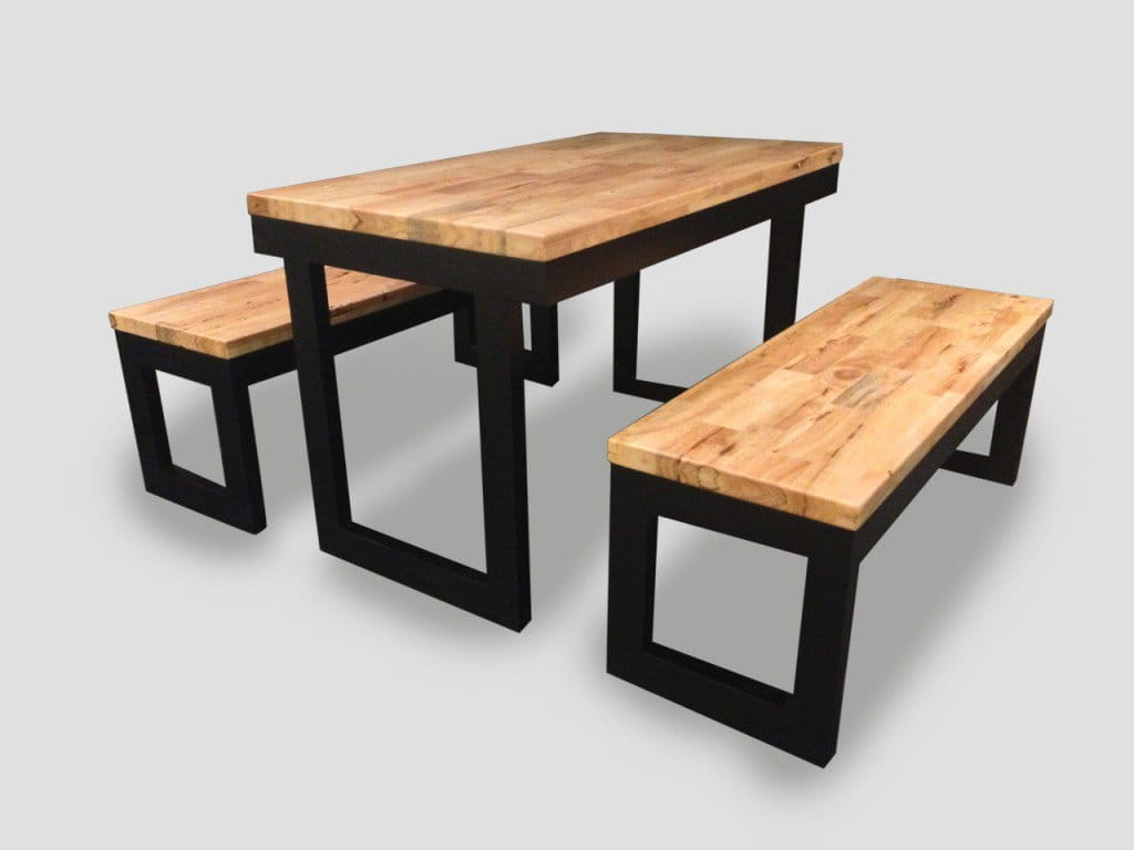 Uni recessed Dining Table W Butcher Top Customisable