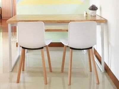 Free Space Intent @ Ubi | Product(s) seen: [Ricky Dining Table w/ Butcher Top]